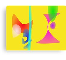 Yellow Abstract Toys Canvas Print
