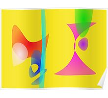 Yellow Abstract Toys Poster