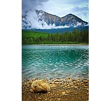 Mountain lake in Jasper National Park Photographic Print