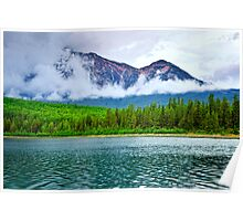 Mountain lake in Jasper National Park Poster