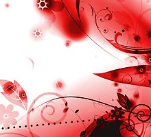 Abstract Red Flourishes by bradyarnold