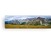 Panorama of Rocky Mountains in Jasper National Park, Canada Canvas Print
