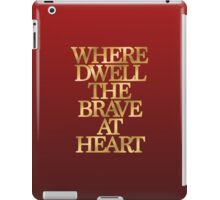 Gryffindor - Where Dwell the Brave at Heart iPad Case/Skin