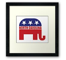 North Carolina Republican Elephant Framed Print