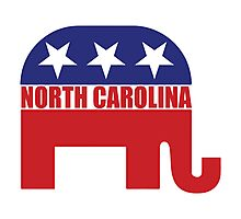 North Carolina Republican Elephant Photographic Print