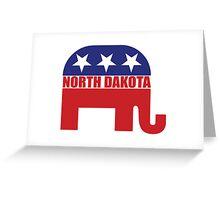 North Dakota Republican Elephant Greeting Card