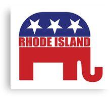 Rhode Island Republican Elephant Canvas Print