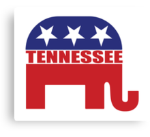 Tennessee Republican Elephant Canvas Print
