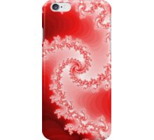 Abstract Red Fractal Spiral iPhone Case/Skin