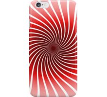 Abstract Red Spiral Pattern iPhone Case/Skin