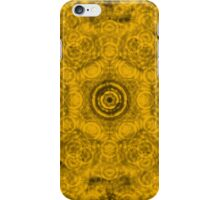 Abstract Yellow Circle Pattern iPhone Case/Skin
