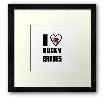 I Heart Bucky Barnes Framed Print