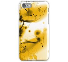 Abstract Yellow Flourishes iPhone Case/Skin