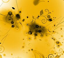 Abstract Yellow Flourishes by bradyarnold