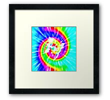 Tie Dye Tie Fighter - white Framed Print