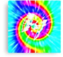 Tie Dye Tie Fighter - white Canvas Print