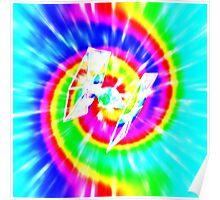 Tie Dye Tie Fighter - white Poster