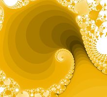 Abstract Yellow Fractal Spiral by bradyarnold