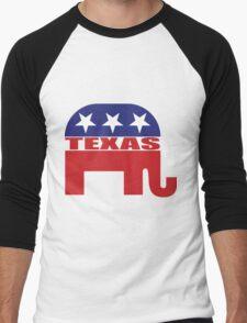 Texas Republican Elephant Men's Baseball ¾ T-Shirt