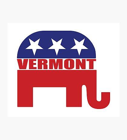 Vermont Republican Elephant Photographic Print