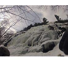 Bow Lake Ice Climb Photographic Print