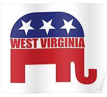 West Virginia Republican Elephant Poster