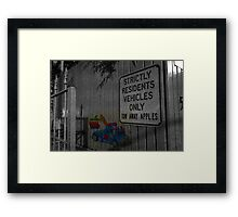 Tow away Framed Print