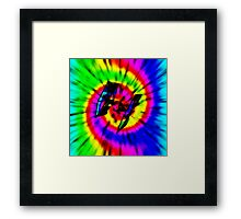 Tie Dye Tie Fighter - black Framed Print