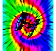 Tie Dye Tie Fighter - black Photographic Print