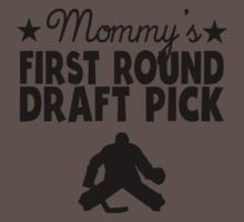 Mommy's First Round Draft Pick Hockey One Piece - Short Sleeve