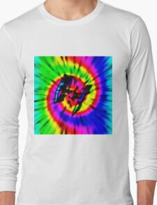 Tie Dye Tie Fighter - black Long Sleeve T-Shirt