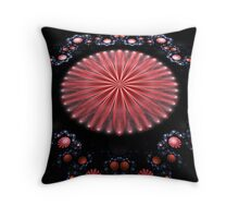 Pink Flower Garden Throw Pillow