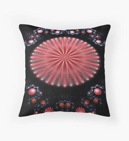 Pink Flower Garden Throw Pillow