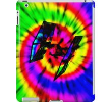 Tie Dye Tie Fighter - black iPad Case/Skin