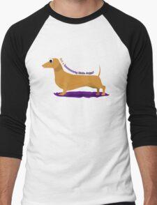 Get along little doggy!  Men's Baseball ¾ T-Shirt