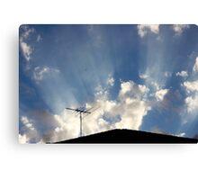 That Striped Sunlight Sound Canvas Print