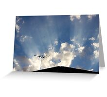 That Striped Sunlight Sound Greeting Card