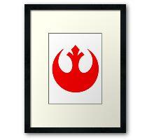 Rebel Alliance Logo Red Framed Print