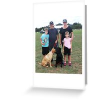 The Guide Dog Family! Greeting Card