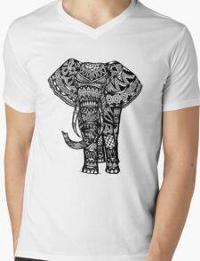 Elephant Aztec Design  Mens V-Neck T-Shirt