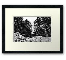 Hakuba Happo Temple Framed Print