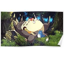Totoro Napping Poster