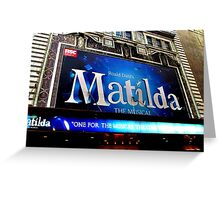 Matilda the Musical Greeting Card