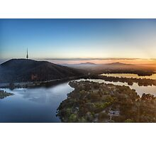 Early morning over Lake Burley Griffin. Photographic Print