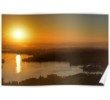 Sunrise over Canberra Poster