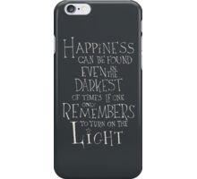 Happiness - Harry Potter quote iPhone Case/Skin