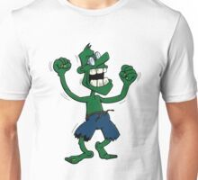 Angry green man with glasses Unisex T-Shirt