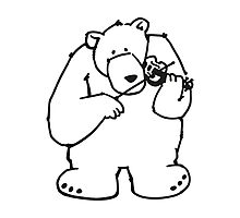 The bear plays violin Photographic Print