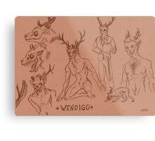 Wendigo study Metal Print