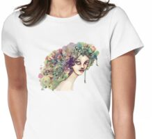 Her name is flora Womens Fitted T-Shirt